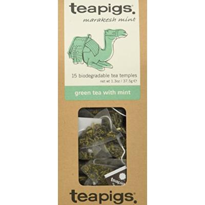 teapigs Green Tea with Mint, 15 Count (Pack of 6)