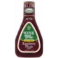 Ken's Steak House Fat Free Raspberry Pecan Dressing 16oz Bottle (Pack of 6)