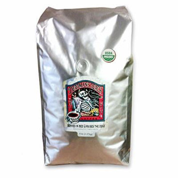 Raven's Brew Whole Bean Deadman's Reach Organic Version, Dark Roast 5-Pound Bag
