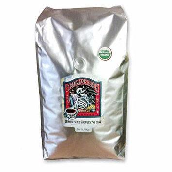 Raven's Brew Whole Bean Deadman's Reach Organic Version, Dark Roast 5-Pound Bag