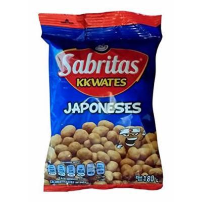 Sabritas Kkwates Japoneses Cachuates Estilo Japones 180g Pack Of 4