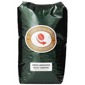 Green Unroasted Decaf Sumatra, Whole Bean Coffee, 5-Pound Bag