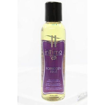 Aromatherapy Massage and Bath Oil FORBIDDEN FRUIT by Inttimo Spa Quality-Blend of 7 Natural Oils 4oz + Bonus Gift for your lover Genuine Fox Tail Charm