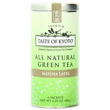 TASTE OF KYOTO Matcha Latte Green Tea, Premium, 6 Count