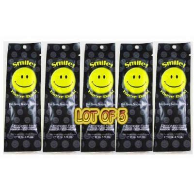 Designer Skin Smile You're Dark Lot of 5 Sample Packets Tanning Lotion