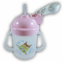 SpongeBob Training Cup / Gravity Free 240ml/8oz PP (Includes Bubble-Straw) / Pink
