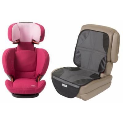 Maxi-Cosi RodiFix Booster Car Seat, Sweet Cerise with Car Seat Mat Protector