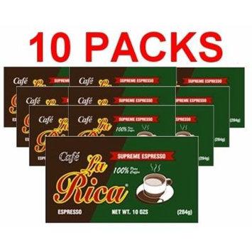 Cafe La Rica 10 PACK Cuban Espresso Ground Coffee 284 g
