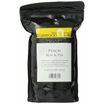 Elmwood Inn Fine Teas, Peach Black Tea, 16-Ounce Pouch
