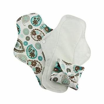 Pink Daisy Organic Cotton Washable Feminine Menstrual Pads - 3 Pack (Medium, Paisley)