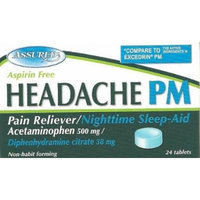 Headache PM - Pain Reliever with Nighttime Sleep Aid (80) Tablets