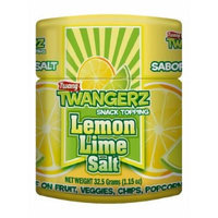 Twang Twangerz Flavored Salt Snack Topping - Lime, Lemon Lime, Chili Lime & Dill Pickle (Lemon Lime, 12 Pack)