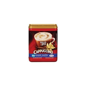 Hills Bros: French Vanilla Sugar Free Cappuccino Drink Mix, 12 oz(Pack of 4)