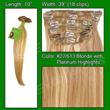 #27/613 Golden Blonde w/ Platinum Highlights - 10 inch