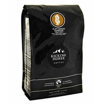 Kicking Horse Coffee Kick Ass Dark, Whole Bean Coffee, 2.2-Pound Pouch (Cliff Hanger Espresso Medium, 2 Pack)