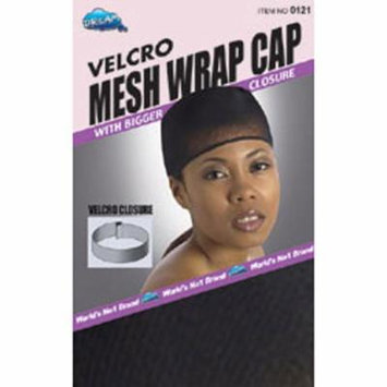 Dream, Velcro Mesh Wrap Cap with Velcro Closure (#121 Black)