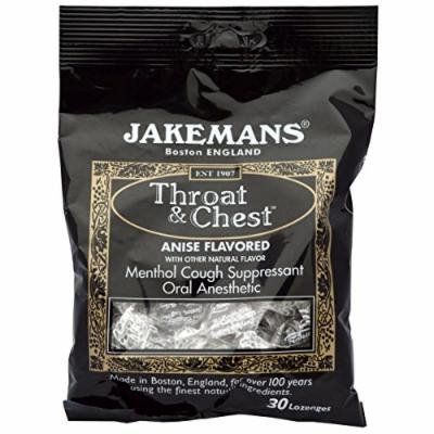 Jakeman's: Throat & Chest Anise Flavored Lozenges, 30 ct (10 Pack)