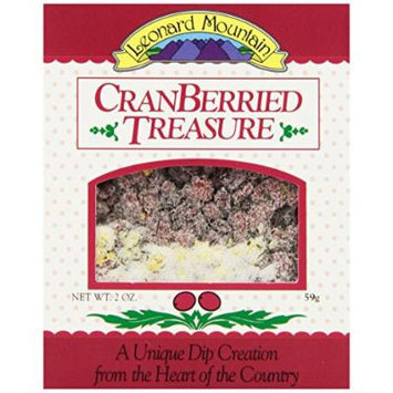 Leonard Mountain Treasure Fruit Dip, Cranberried, 2 Ounce (Pack of 6)