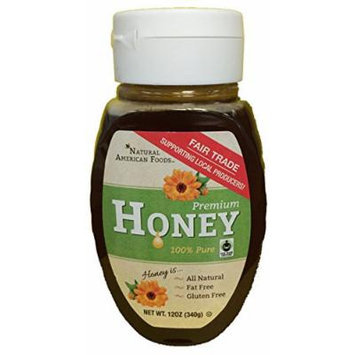Natural American Foods Fair Trade Honey, 12 Ounce