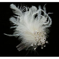 WHITE Feather Bridal Hair Headpiece