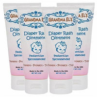 Grandma El's Diaper Rash Ointment, 2-Ounce Tube (Pack of 4)