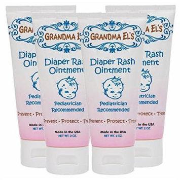 Grandma El's Diaper Rash Ointment, 2-Ounce Tube (Pack of 4)