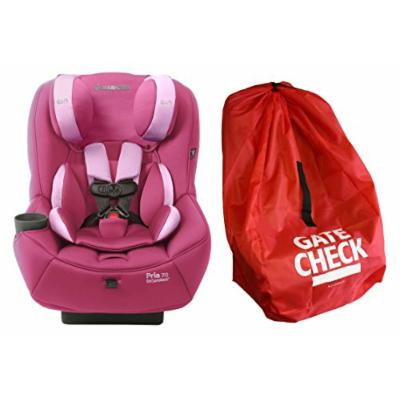 Maxi-Cosi Pria 70 Convertible Car Seat with Easy Clean Fabric and Gate Check Bag, Sweet Cerise