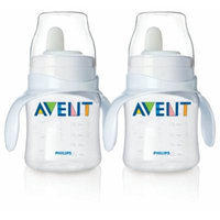 Philips Avent BPA Free Classic Bottle to First Cup Trainer, 2 Pack - Clear