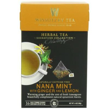 Wissotzky Tea Signature Collection Nana Mint with Ginger and Lemon Tea, 1.4 Ounce (16 Count)