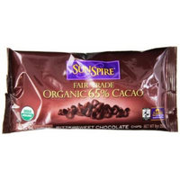 SunSpire Organic Fair Trade 65% Cacao Bittersweet Baking Chips, 9 Ounce Bag