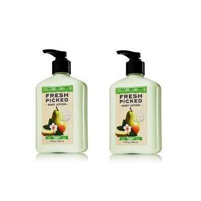 Bath & Body Works Fresh Picked Body Lotion 2 Bottles 12 oz Pears Gift Set Jumbo Size