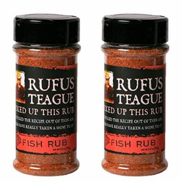 Rufus Teague Gourmet Rubs - No MSG - Gluten Free - OU Kosher - Specialty Fish Rub (2 Pack) (6.8 oz each)