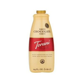 Torani White Chocolate Sauce - Case of 4 (64oz bottle)