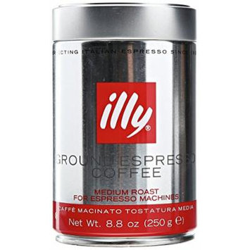 illy Caffe (Medium Roast, Ground coffee Red Band), 8.8 Ounce Tin