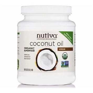 2 Tubs Nutiva Coconut Oil Organic Extra Virgin 2 Tubs 54 Oz