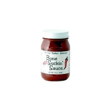 Bone Suckin' BBQ Sauce Hot, 16 Ounce Jar