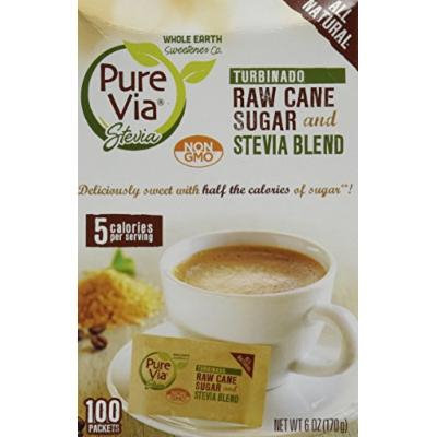 PUREVIA STEVIA & TURBINADO, 100 PC