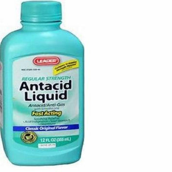 Leader Antacid Anti-Gas Regular Strength Liquid 12 oz (3 Pack)