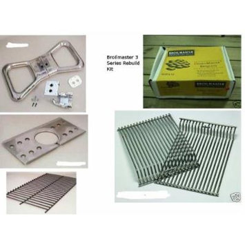 Broilmaster 3 Series Gas Grill Rebuild Kit Burner Cooking Grate Briquette Briquette Grate Wind Guard