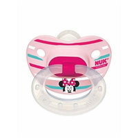 Nuk Disney Minnie Mouse Silicone Orthodontic Pacifier, Set of 2, 6-18 Months