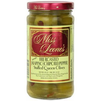 Miss Leone's Stuffed Queen Olives, Chipotle, 12-Ounce Jars (Pack of 3)