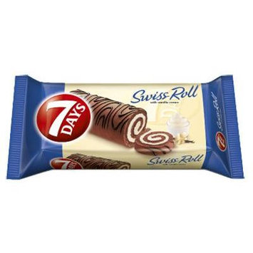 7 Days Swiss Roll with Vanilla Cream From Greece - 4 Packs X 200g (7.0 oz Per Pack)