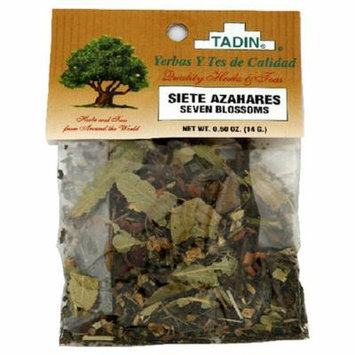 Tadin Herbs & Tea, Siete Azahares (Seven Blossoms), 0.5-Ounce Cellophane Bags (Pack of 4)