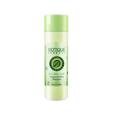 Biotique Bio Green Apple Tear Proof Baby Shampoo 100% soap free gentle shampoo 120ml