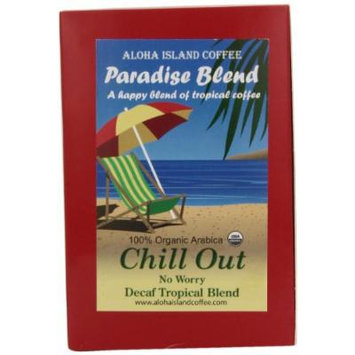 Aloha Island Coffee Company Chill Out, No Worry Decaf, 18-Count Organic Coffee Pods