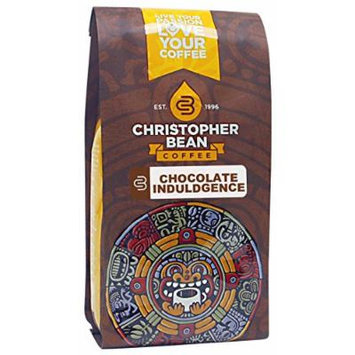Christopher Bean Coffee Decaffeinated Whole Bean Flavored Coffee, Chocolate Indulgence, 12 Ounce