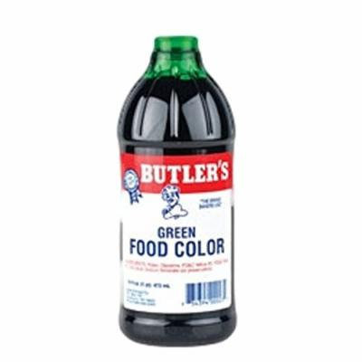 Butler's Best Green Food Coloring, Bottle, 16 fl oz
