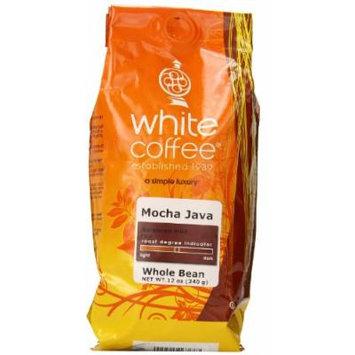 White Coffee Whole Bean Coffee, Mocha Java, 12 Ounce