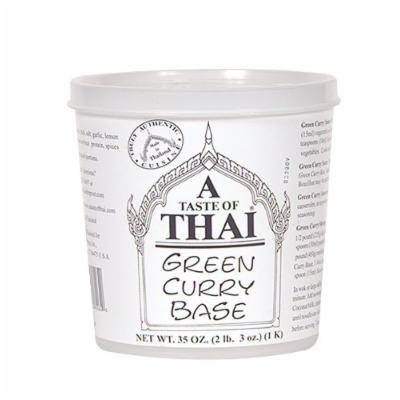 A Taste of Thai Green Curry Paste, 35-Ounce Tubs (Pack of 3)