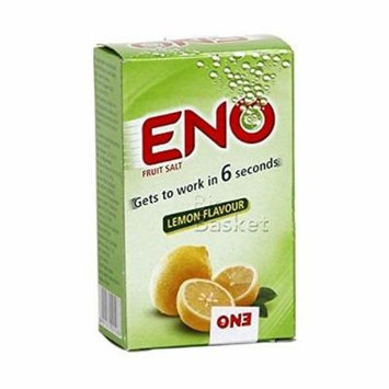 Eno Fruit Salt Antacid Powder - LEMON Flavor - 1 Carton (30 Sachets)- 5 g Each